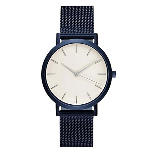 ssic Watches Quartz Dial Clock Analog Wrist Watch (Blue) (Analog Blue Dial Watch)