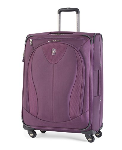 Atlantic Luggage Ultra Lite 3 25 Inch Expandable Spinner, Purple, One ()