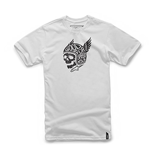 Alpinestars Men's Modern Fit Short Sleeves 146 GSM Motorsports Heritage T-Shirt, Demon White, (Alpinestars Tee)