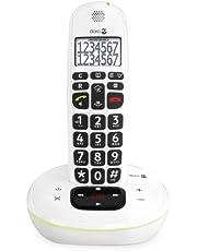 Doro PhoneEasy 115 DECT draadloze telefoon (antwoordapparaat, groot lettertype en cijfers, optische oproepsignalering) wit