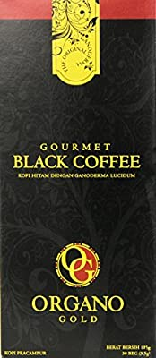 Organo Gold Gourmet Black Coffee 100% Certified Ganoderma Extract Sealed (Pack of 5)