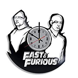 Fast & Furious Vinyl Wall Clock, Vin Diesel Art Handmade Decoration Original Gift Any Occasion, Vintage Modern Style Decor