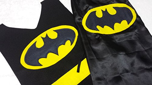 Kids Batman Costume Set (Batman Tunic and Batman (Handmade Batman Costume)