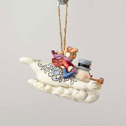 Department56 Enesco Snowman by Jim Shore Frosty and Karen Sledding Ornament