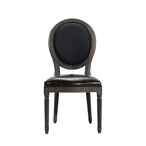 Curations 8827.1107 French Vintage Louis Side Chair, Blue (Chair Louis Side)