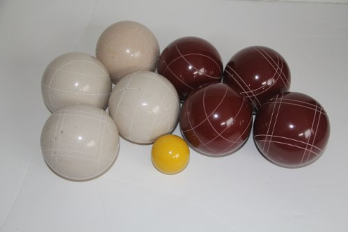 Premium Quality EPCO Tournament Set - 110mm Red and White Bocce Balls - NO BAG OPTION [Toy] by Epco
