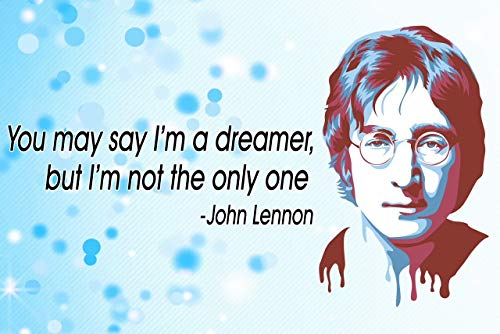 - Vincit Veritas John Lennon Poster | The Beatles Poster | Beatles Memorabilia | The Beatles Posters | Classroom Posters | John Lennon Posters | 100 Lb Gloss Paper | 18-Inch by 12-Inch | P004