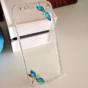 MOFY-Lujo de diamantes libŽlula caso de la contraportada para el iphone 5 / 5s