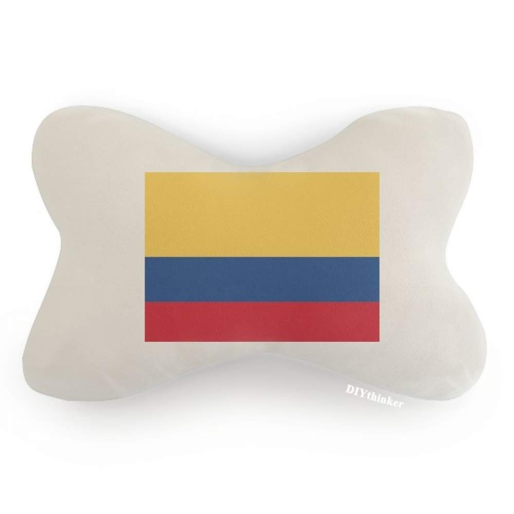 DIYthinker Colombia National Flag South America Country Car Neck Pillow Headrest Support Cushion Pad