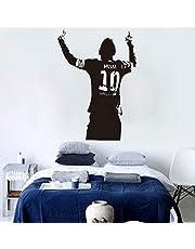 ملصقات حائط كرة القدم الرياضية للأطفال الأولاد العام ليونيل ميسي بعد تسجيل الهتاف غرفة ورق الحائط ديكور المنزل