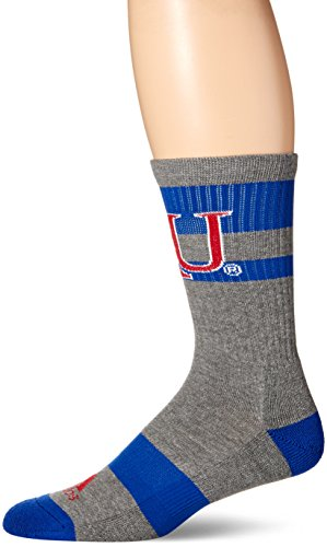adidas NCAA Kansas Jayhawks Men's Crew Socks, Size 12-15, Grey