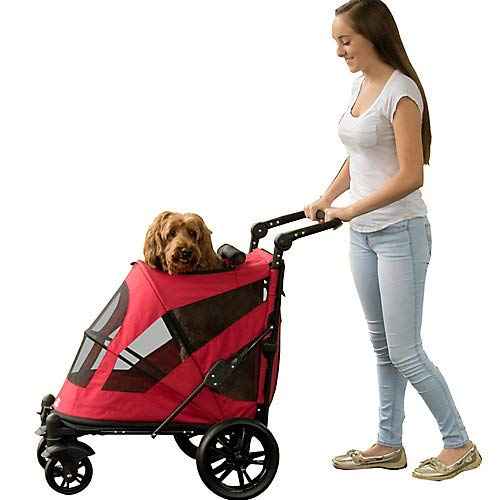 Pet Gear NO-Zip Stroller, Push Button Zipperless Dual Entry, for Single or Multiple Dogs/Cats, Pet Can Easily Walk in…