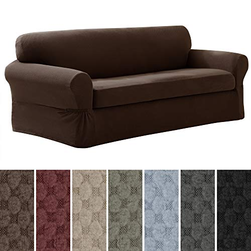 MAYTEX Pixel Ultra Soft Stretch 2 Piece Sofa Furniture Cover Slipcover