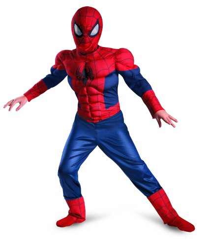 Disguise Boy's Marvel Ultimate Spider-Man Classic Muscle Costume, 10-12