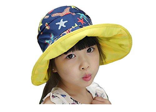 JULED Kids Waterproof Sunscreen Sun Hat Beach Foldable Fisherman Bucket Cap