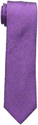Sean John Men's Floral Solid Tie, Medium Purple, One Size