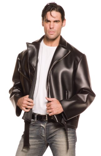 Underwraps Costumes Men's Greaser, Black, One Size (Grease The Movie Costumes)