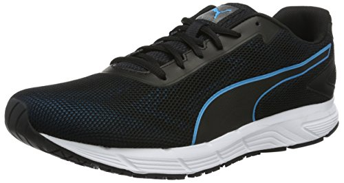 Puma Engine, Zapatillas de Running para Hombre Negro (Puma Black-blue Danube 01)