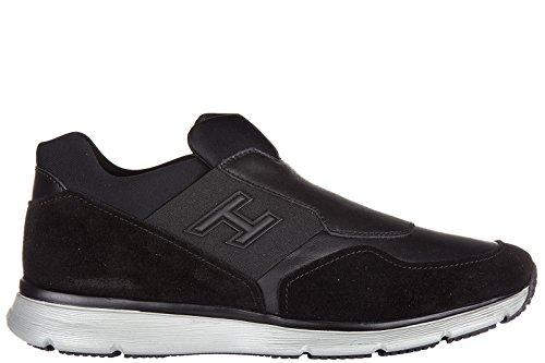Hogan slip on uomo in pelle sneakers nuove originali traditional nero