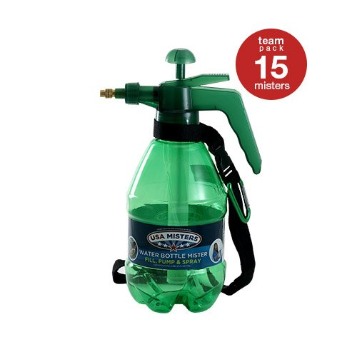 COREGEAR 15 Pack of USA Misters 1.5 Liter Personal Water Mister Pump Spray Bottle Green … by COREGEAR