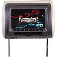 Farenheit HRD-71CC 7 Universal DVD Headrest (With USB/Aux)