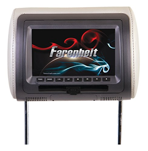 Brand New, Farenheit - Universal 7' LCD Headrest w/ DVD Player (Mobile Electronics - Headrest Systems)