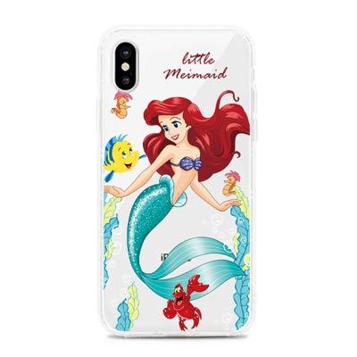 C CASESOPHY Ultra Slim Super Thin Soft TPU Transparent Little Mermaid Princess Ariel Case for iPhone XR iPhoneXR 6.1 Clear Walt Disney Cartoon Protective Cute Lovely Gift Girls Teens Kids Daughter