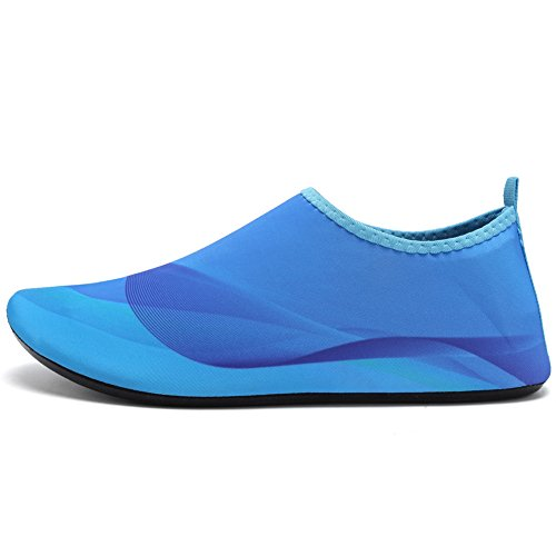 CIOR Men and Women Barefoot Skin Aqua Shoes Anti-Slip Multifunctional Water Shoes For Beach Pool Surf Yoga Exercise Blue01 3iCycILDt