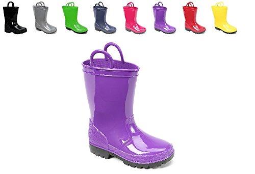 Ska Doo Dark Purple Kids Rain Boots 6 M US Toddler by SkaDoo (Image #4)