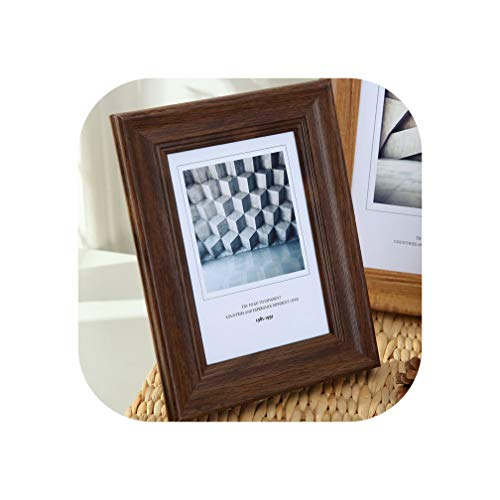 5 Sizes Rectangle Pictures Frames Resin Desk Table Decor Photo Frame with Transparent Organic Glass Wedding Family Photo Frames,Zhipuzong,7 Inch ()