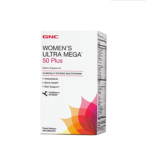 GNC Women's Ultra Mega 50 Plus Multivitamin for Women, 120 Count, Vitamin, Multivitamin