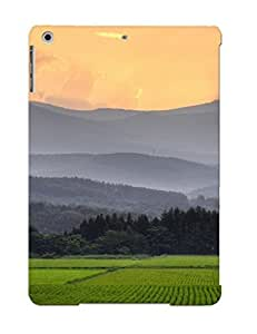 Storydnrmue New Arrival Ipad Air Case Beautiful Green Fields Case Cover/ Perfect Design