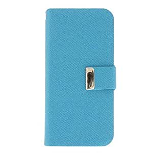 Twill Style Solid Color PU Leather Full Body Case with Strap for iPhone 5 (Optional Colors) --- COLOR:Rose