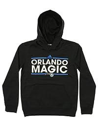 adidas NBA Youth Boys Orlando Magic Pullover Fleece Hoodie, Black