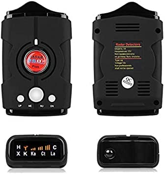 WLZLINE Speed Camera Detector, Voice Alert Car GPS Radar Laser Speed Alarm System, City Highway Mode 360 Degree Detection Radar Detectors Kit with LED Display for Cars FCC Certification