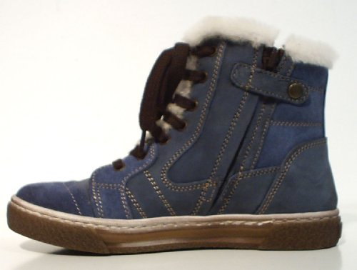Romagnoli Stiefel Halbschuhe Warmfutter Wolle blau Leder Gr. 29 ni9s4FG