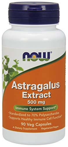 NOW Astragalus Extract 500 mg,90 Capsules (packaging may vary) (Extract 500 Mg Capsules)