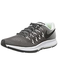 Nike Women's Air Zoom Pegasus 33 Dark Grey/Black/White Running Shoe 9 Women US