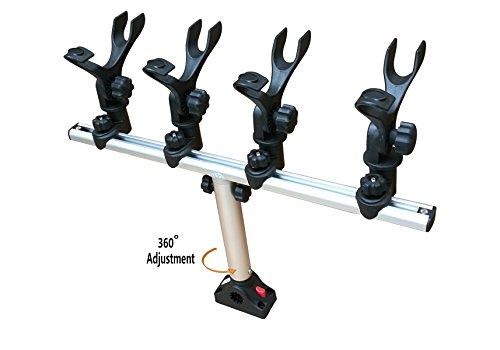 (Brocraft Crappie Rod Holder System With Deck/Side Mount)