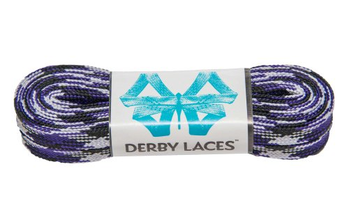 Purple Camouflage 84 Inch Waxed Skate Lace - Derby Laces for