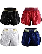 adidas Martial Arts Muay Thai Kick Boxing Shorts, Unisex Adulto, Negro, Large
