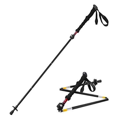Folding Collapsible Hiking Pole made our list of camping gifts couples will love and great gifts for couples who camp