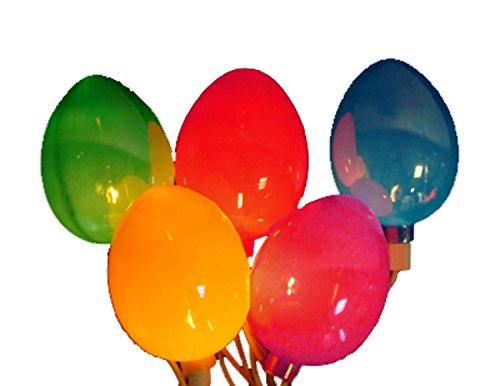 rl Multi-Colored Easter Egg Spring Holiday Lights - White Wire (Multicolored Easter Eggs)