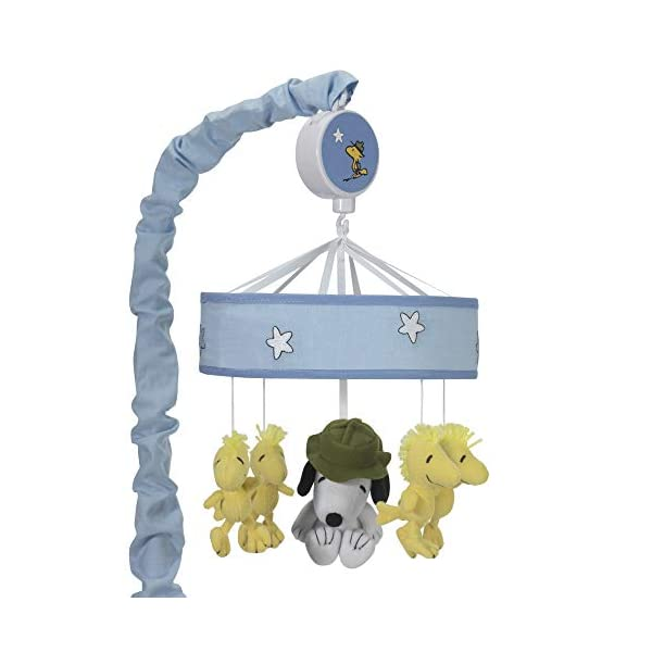 Peanuts Snoopy's Campout Stars Musical Mobile, Blue/White