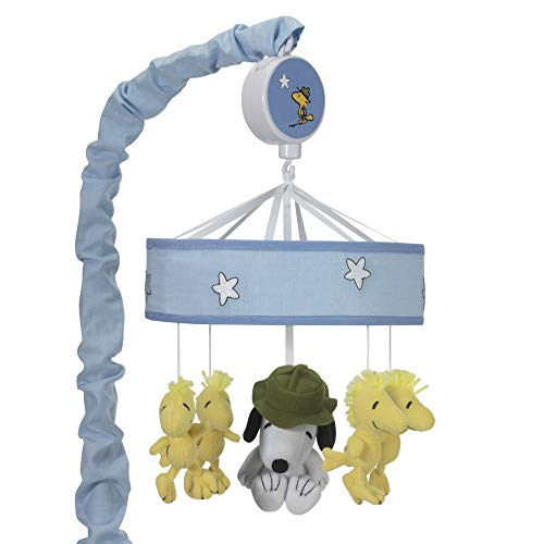 (Peanuts Snoopy's Campout Stars Musical Mobile, Blue/White)