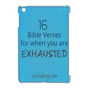 3D Bible Series, IPad Mini Cases, 16 Bible Verses for When You are Exhausted Cases for IPad Mini [White]