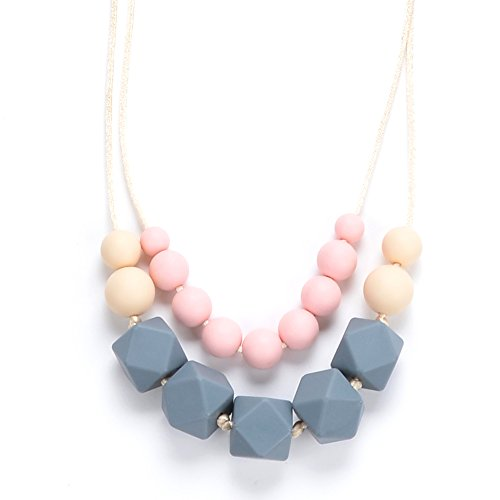 BEBE by Me 'Eve' Hard + Soft + Cushy Beads All-in-1 Teething Necklace for Nursing Moms