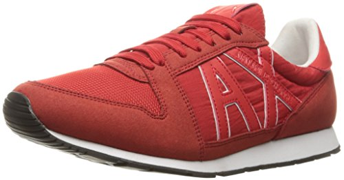 Retro Exchange Red Running Sneaker X A Men Armani Sneaker Fashion Absolute IxHH7Pwq