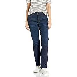 Amazon Essentials Women's Mid-Rise Slim Straight Jean