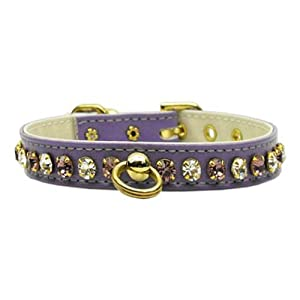 Mirage Pet Products 83-49 Yw26 White Bow Widget Genuine Leather Yellow Dog Collar Click on image for further info.